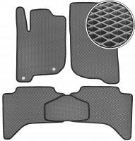 Коврики в салон для Mitsubishi L200 / Triton '05-15, EVA-полимерные, серые с черной тесьмой (Kinetic)