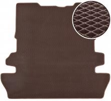 Коврик в багажник для Toyota Land Cruiser 200 '07- 7 мест, EVA-полимерный, коричневый (Kinetic)