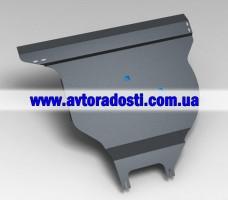 Защита заднего бампера и крепеж Nissan X-Trail '08-15 (3 мм) 2,0/2,5  МКПП/АКПП