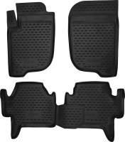 Коврики в салон для Mitsubishi Pajero Sport '08-16 полиуретановые, черные (Novline / Element)