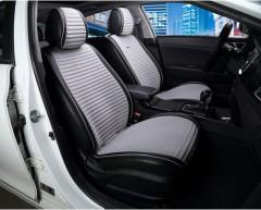 Накидки на передние сидения CarFashion Monaco серые