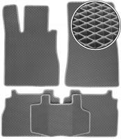 Коврики в салон для Mercedes S-class W220 '98-05, EVA-полимерные, серые (Kinetic)
