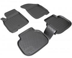 Коврики в салон для Fiat Freemont '11-16 полиуретановые, черные (Nor-Plast)