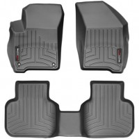 Коврики в салон для Fiat Freemont '11-16, черные, резиновые 3D (WeatherTech)