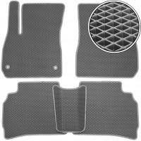 Коврики в салон для Chevrolet Malibu '16-, EVA-полимерные, серые (Kinetic)