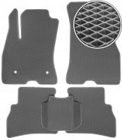 Коврики в салон для Fiat Doblo '10-, EVA-полимерные, серые (Kinetic)