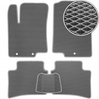Коврики в салон для Hyundai Accent (Solaris) '11-17, EVA-полимерные, серые (Kinetic)