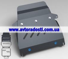Защита радиатора для Toyota LC 200 Prado '10- (3мм) 4,7 бензин/4,5 дизель АКПП