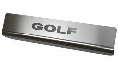 Фото 5 - Накладки на пороги для Volkswagen Golf 7 '12- (Premium)