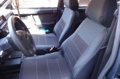 Авточехлы Premium для салона Lada (Ваз) 2109-2115 '90-12 серая строчка (MW Brothers)