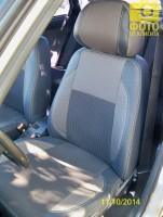 Авточехлы Premium для салона Lada (Ваз) 2110 серая строчка (MW Brothers)