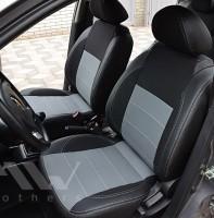 Авточехлы Premium для салона Chevrolet Aveo '04-11, седан серая строчка (MW Brothers)