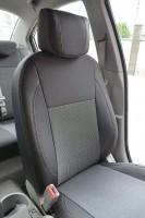 Авточехлы Premium для салона Hyundai Accent '06-10 серая строчка (MW Brothers)