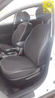 Авточехлы Premium для салона Kia Sportage '10-15 серая строчка (MW Brothers)