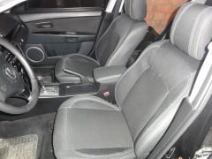 Авточехлы Premium для салона Mazda 3 '09-13 серая строчка (MW Brothers)