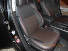 Фото 1 - Авточехлы Premium для салона Mazda 6 '08-12 серая строчка (MW Brothers)