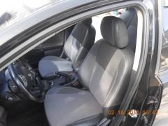 Авточехлы Premium для салона Mitsubishi Lancer X (10) мотор 2. 0, серая строчка (MW Brothers)