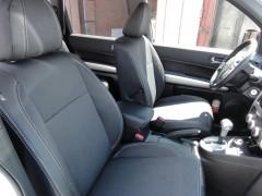 Авточехлы Premium для салона Nissan X-Trail '08-15 XE серая строчка (MW Brothers) без заднего подлокотника