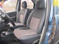 Авточехлы Premium для салона Renault Logan '04-12 серая строчка (MW Brothers)
