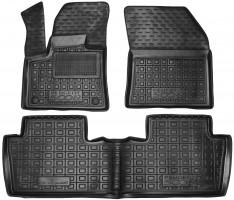 Коврики в салон для Peugeot 5008 2017 - резиновые, черные (AVTO-Gumm)