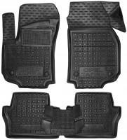 Коврики в салон для Opel Zafira B '05-13 резиновые, черные (AVTO-Gumm)