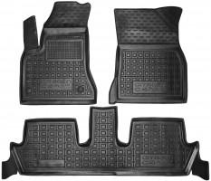 Коврики в салон для Citroen C4 Picasso '06-13 резиновые, черные (AVTO-Gumm)