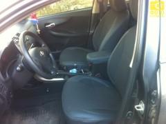 Авточехлы Premium для салона Toyota Corolla '07-12 серая строчка (MW Brothers)