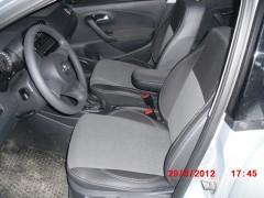 Авточехлы Premium для салона Volkswagen Polo '10-, седан серая строчка, с цельной спинкой (MW Brothers)