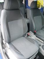 Авточехлы Premium для салона Volkswagen Caddy '04-15 серая строчка (MW Brothers)