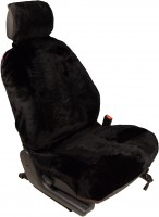 Меховая накидка на сиденье из овечьей шкуры универсальная коричневая (1шт)