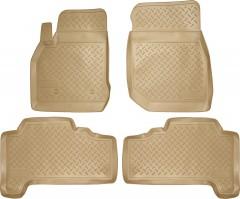 Коврики в салон для Lexus LX 470 '00-07 полиуретановые, бежевые (Nor-Plast)