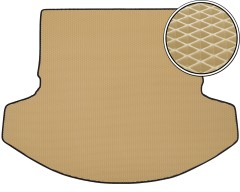 Kinetic Килимок в багажник для Mazda CX-9 '16- 3 ряд складений, EVA-полімерний, бежевий (Kinetic)