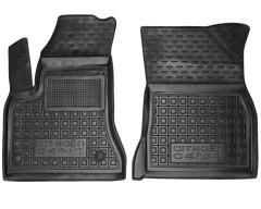 Коврики в салон передние для Citroen C4 Picasso '06-13 резиновые, черные (AVTO-Gumm)