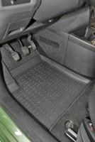 Коврики в салон для Ford Fiesta '02-09 полиуретановые, черные (Novline / Element)