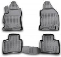 Коврики в салон для Ford Mondeo '01-07 полиуретановые, черные (Novline / Element)