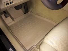 Коврики в салон для Lexus GS '05-12, 2WD полиуретановые, бежевые (Novline / Element)