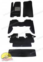 Коврики в салон для Infiniti QX56 '04-10 текстильные, черные (Люкс) + багажник