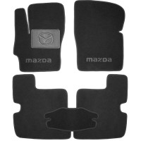 Фото 1 - Коврики в салон для Mazda 3 '04-09 текстильные, черные (Премиум)