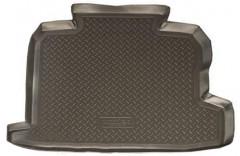 Коврик в багажник для Renault Logan '04-12, полиуретановый (Novline / Element) серый