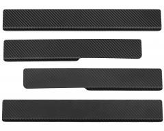 Накладки на пороги карбон для Toyota RAV4 2019- (Premium+k)