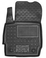 Фото 2 - Коврики в салон передние для Ford КА+ '19- резиновые, черные (AVTO-Gumm)
