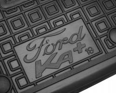 Фото 7 - Коврики в салон передние для Ford КА+ '19- резиновые, черные (AVTO-Gumm)