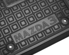 Фото 7 - Коврики в салон передние для Mazda 3 '19- резиновые, черные (AVTO-Gumm)