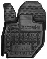 Фото 2 - Коврики в салон передние для Suzuki Jimny '19- резиновые, черные (AVTO-Gumm)