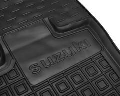 Фото 5 - Коврики в салон передние для Suzuki Jimny '19- резиновые, черные (AVTO-Gumm)