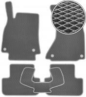 Kinetic Коврики в салон для Audi A4 '08-15, EVA-полимерные, серые (Kinetic)