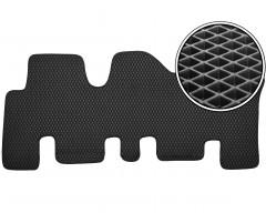Kinetic Коврик в салон для Hyundai Santa Fe '06-10 CM, 3 ряд, EVA-полимерный, черный (Kinetic)