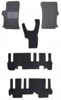 Коврики в салон для Hyundai H-1 '07- текстильные, серые (Люкс) 1+2+3 ряд