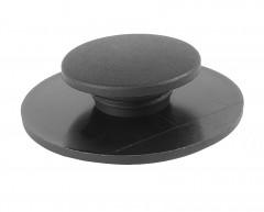 Клипса для ковриков в салон BMW, круглая черная с липучкой