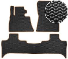 Kinetic Килимки в салон для BMW X5 E53 '00-07, EVA-полімерні, чорні з бежевою тасьмою (Kinetic)